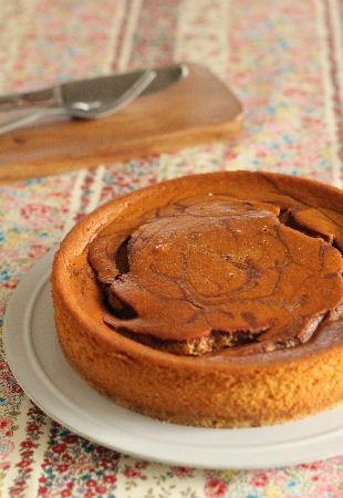 キャラメル&チョコチーズケーキ002.JPG