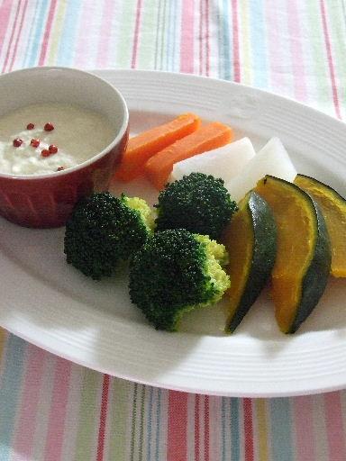 温野菜と豆腐ディップ2011_0331.JPG