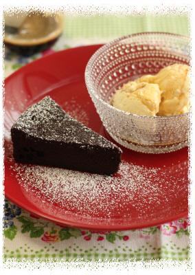 mayucafeアフォガートとチョコケーキ.JPG
