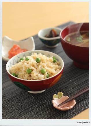 mayucafe玄米グリーンピースごはん定食.JPG